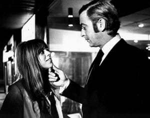 TV actors: Petra Markham and Michael Caine in Get Carter