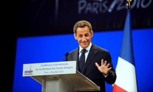 Nicolas Sarkozy addresses International Conference on High Energy Physics