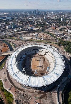 Olympic site: Stadium Roof Aerials_100721_005