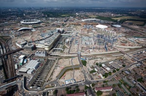 Olympic site: 100630_Stratford International Station aerial_039