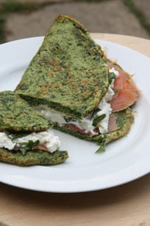 Watercress omelette