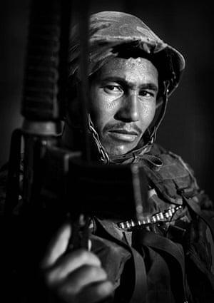 Afghan National soldiers: Afghan National Army soldier Saber, an ethnic Tajik from Samangan