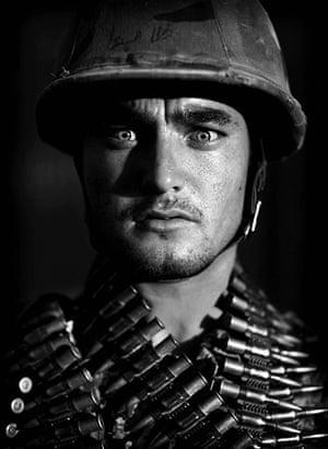 Afghan National soldiers: Afghan National Army soldier Ghulam Hidar, an ethnic Turkmeni