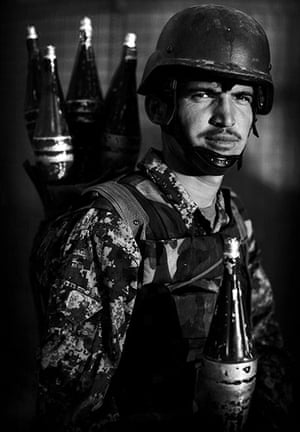 Afghan National soldiers: Afghan National Army soldier Aijad, an ethnic Tajik from Badakshan
