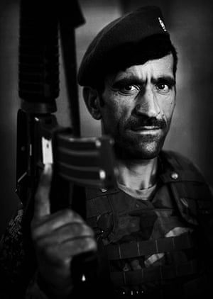 Afghan National soldiers: Afghan National Army soldier Han Shareen, an ethnic Tajik from Badakhshan