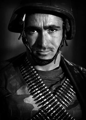 Afghan National soldiers: Afghan National Army soldier Mullah Assan, an ethnic  Turkmeni from Jozjan
