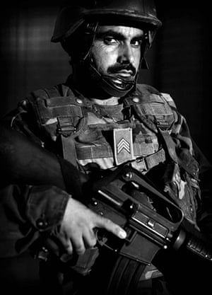 Afghan National soldiers: Afghan National Army soldier Lt. Dilah Ga, an ethnic Tajik from Takhar