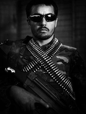 Afghan National soldiers: Afghan National Army soldier Aziz Ala, an ethnic Tajik from Badakhshan