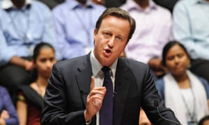 David Cameron speaking in Bangalore