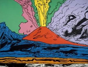Volcano exhibition: Vesuvius painting by Andy Warhol