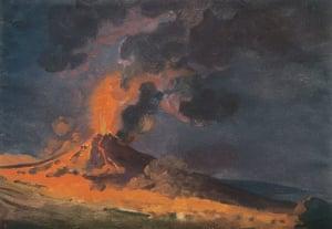 Volcano exhibition: Vesuvius in Eruption by Joseph Wright