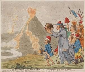 Volcano exhibition: James Gillray etching