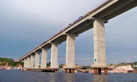 The Manaus-Iranduba Bridge, Brazil.