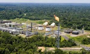 The Arara pole, part of the Urucu oilfield in the Amazon rain forest southeast of Manaus, Brazil.