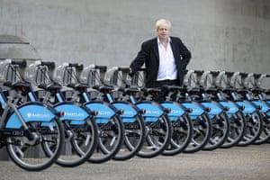 London cycle hire: Boris Johnson at the launch of the Cycle Hire Scheme, on the South Bank