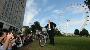 London cycle hire: Mayor of London Boris Johnson poses for  photographers