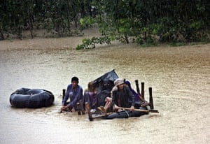 Pakistan floods: People flee their villages after heavy monsoon rains triggered flash floods