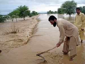 Pakistan floods: Flash floods caused by monsoon rains on the outskirts of Dera Ismail Khan