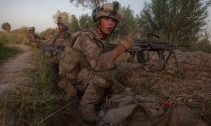 US marines, Afghanistan