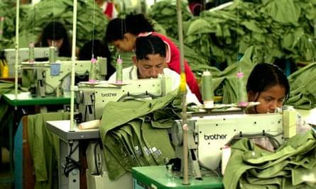 A sweatshop in Guatemala