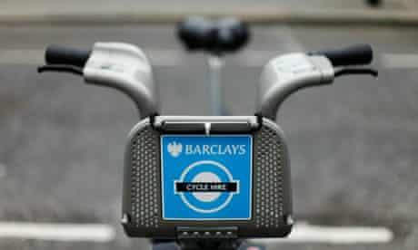 One of London's new rental bikes