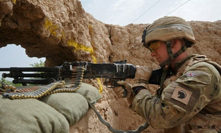 British soldier on duty near Sayedebad, Afghanistan