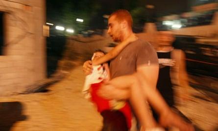 Israeli air strikes in Gaza City
