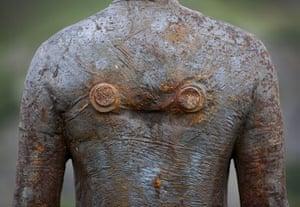 Anthony Gormley: A Figure at Kriegeralpe, near Lech 'Horizon Field' by Anthony Gormley