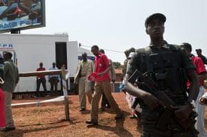 Kigali: Rwandan president Paul Kagame arrives at the presidential campaign rally