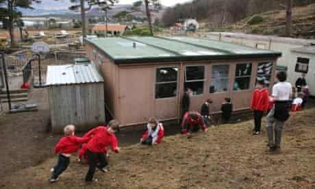Schoolchildren playing