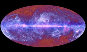 An image of the universe by the Planck telescope