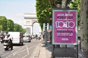 10:10 campaign: Arc de Triomphe 1010 launch France 1010 launch france