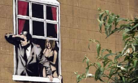 New work by graffiti artist Banksy