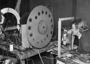 Television: 1925: John Logie Baird with orginial television model