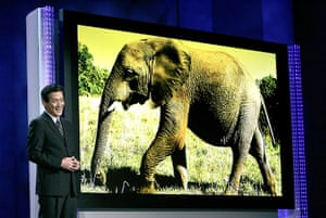 Analogue television: CES giant plasma screen