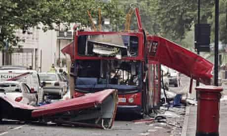 7/7 London bombings: No 30 bus double-decker bus in Tavistock Square that was destroyed