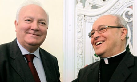Spain's foreign minister Miguel Angel Moratinos meets Cardinal Jaime Ortega