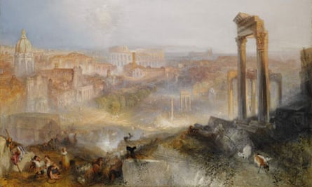 Detail of Modern Rome – Campo Vaccino by JMW Turner.