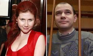 Composite of Anna Chapman and Igor Sutyagin