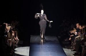 Paris Fashion Week: Dita Von Teese at the Jean Paul Gaultier Fashion Show in Paris