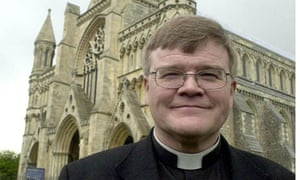 Dr Jeffrey John, outside the St Albans Cathedral in 2004