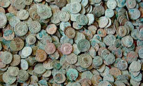 Roman coin hoard found