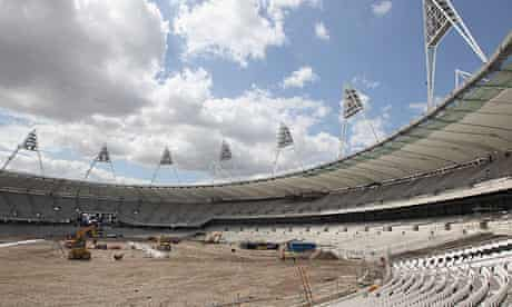 London's Olympic Stadium on 5 July 2010, when the 2012th seat was fitted