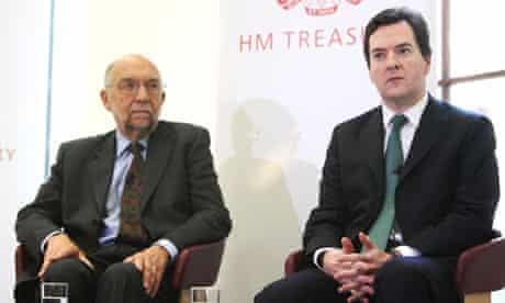 George Osborne and Sir Alan Budd of the OBR