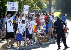 LeBron James: Fans gather outside the Boys & Girls Club of Greenwich