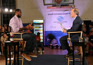 LeBron James: LeBron James and ESPN's Jim Gray