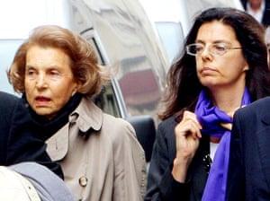 Bettencourt case: Liliane Bettencourt and her daughter Françoise Meyers-Bettencourt