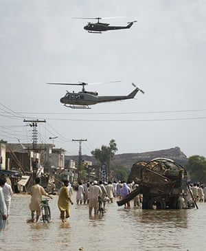 Pakistan floods: Army helicopters look to distribute relief supplies in Nowshera