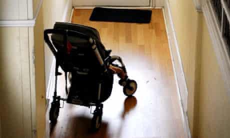 A pram in a hallway