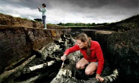 Archaeologists work on the Star Carr site near Scarborough, North Yorkshire